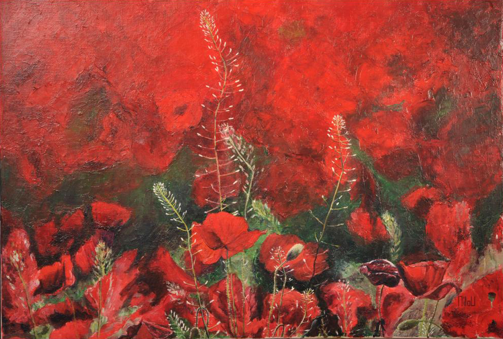 Le champ rouge - 190 Euros