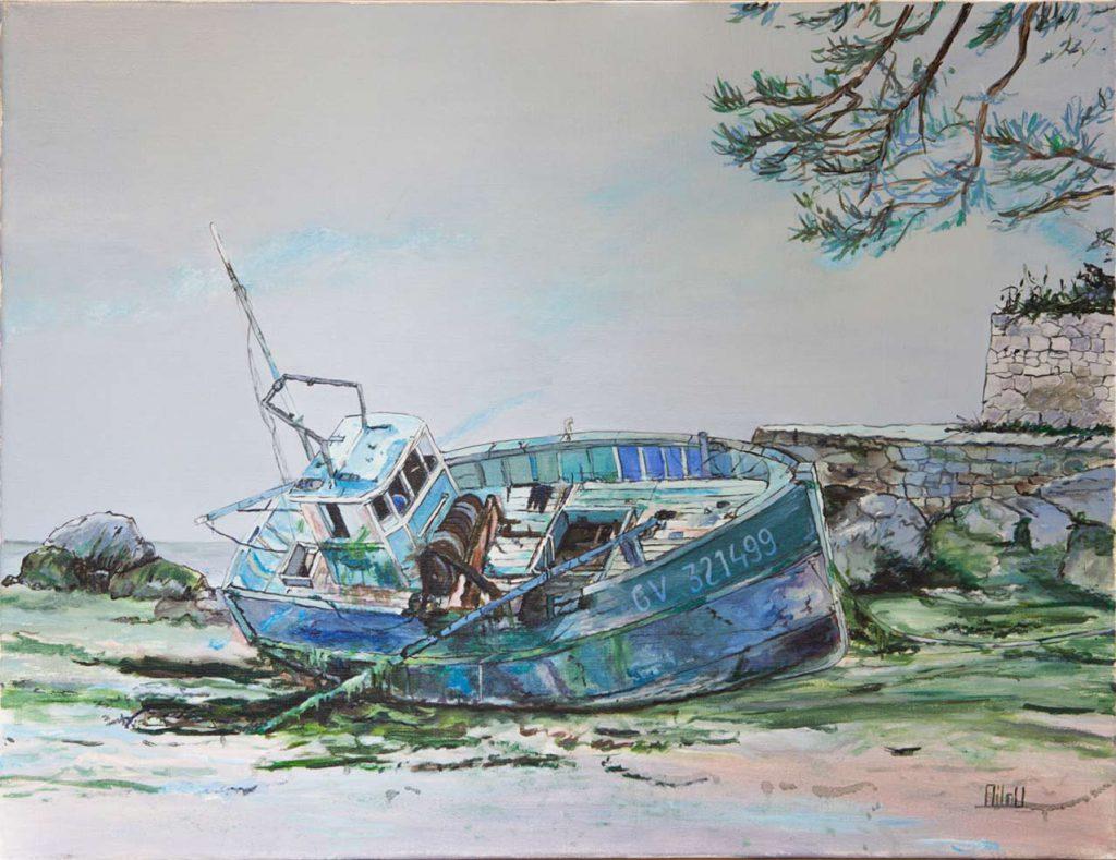 Barque échouée - 320 Euros