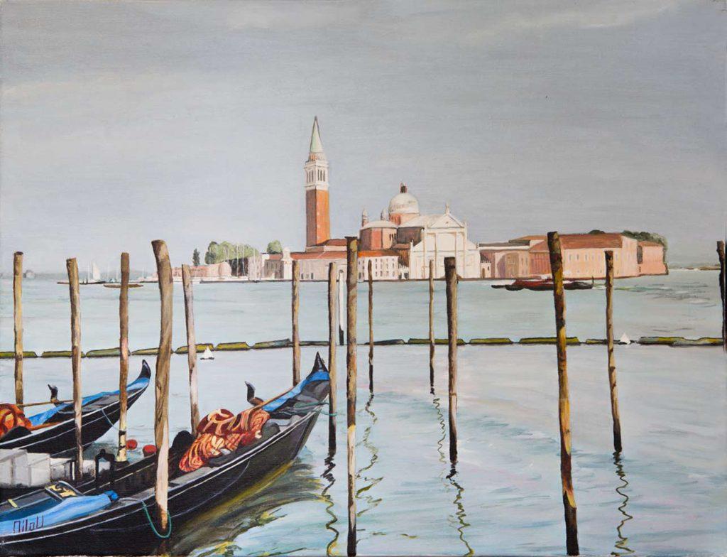 Deux gondoles à Venise - 230 Euros