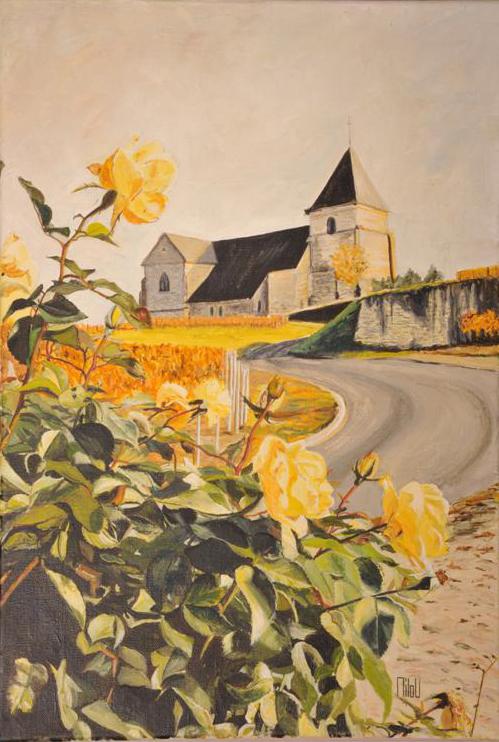 Roses jaunes à Chavot - 280 Euros