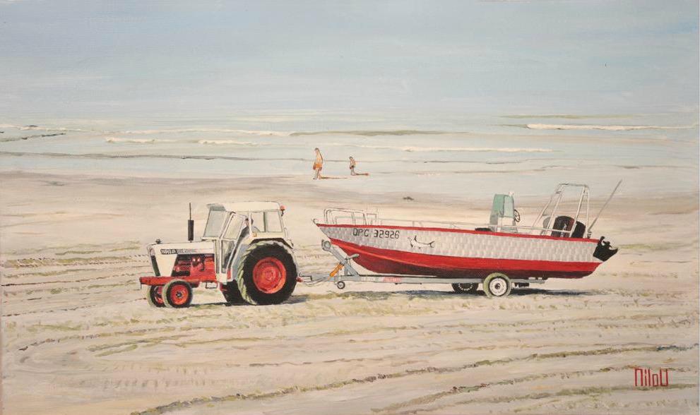 Le tracteur rouge - 250 Euros