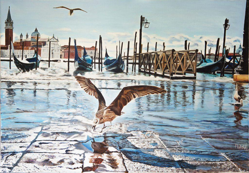 Oiseaux à Venise - 320 Euros