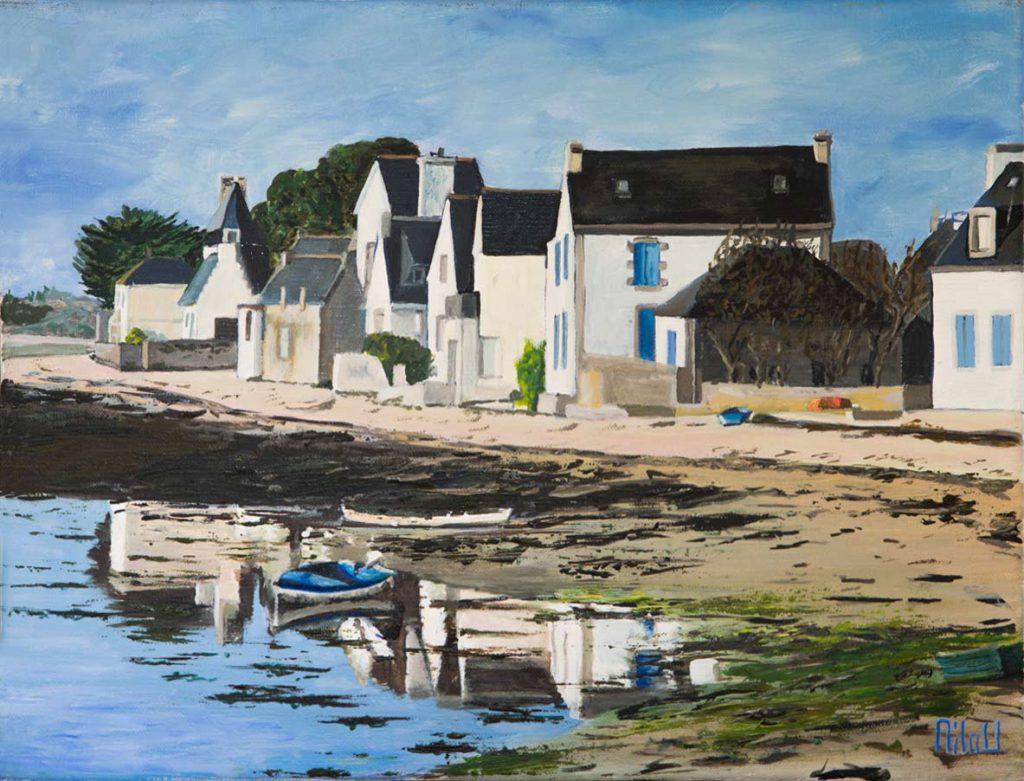 Reflet de village breton - INDISPONIBLE
